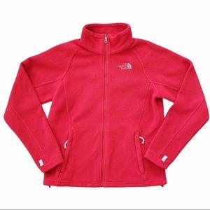 The North Face Full Zip Fleece Jacket red medium